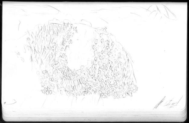 Une des vues dessinées du patrimoine salinois par Edouard.